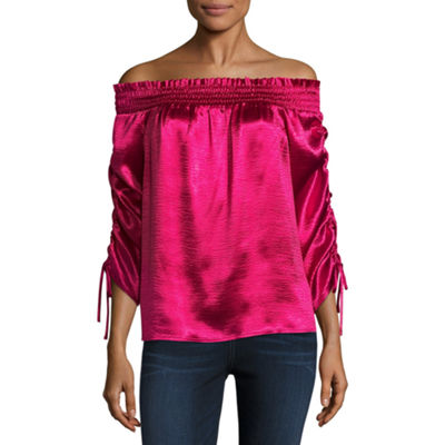 Project Runway Off The Shoulder Smocked Top