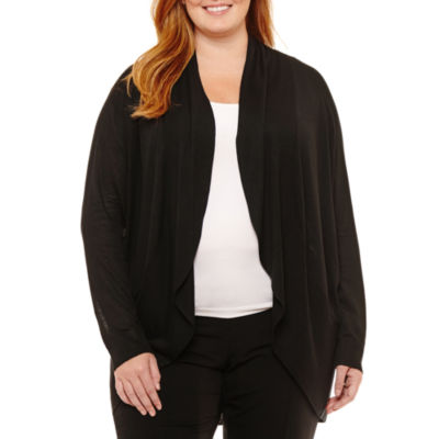 Worthington Long Sleeve Cardigan - Plus