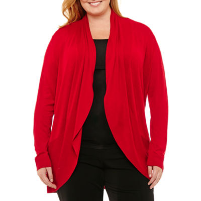 Worthington Long Sleeve Cardigan - Plus