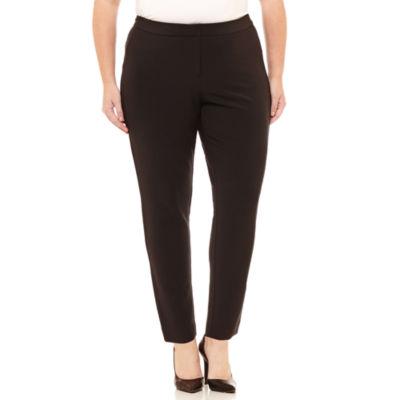 Worthington Curvy Fit Slim Pants-Plus