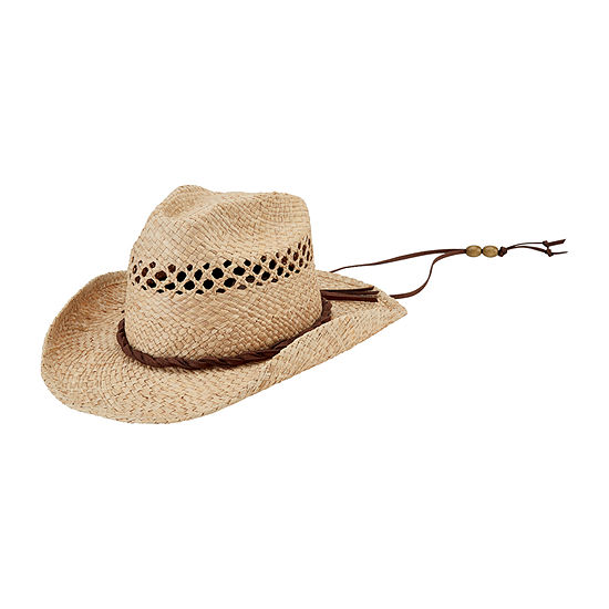 Men's Cowboy Hat with Chin Cord