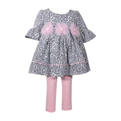 Bonnie Jean 2-pc. Leopard Print Top Legging Set - Baby Girls