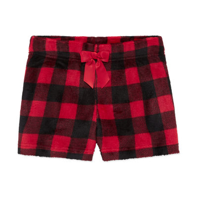 Arizona Fleece Red Black Gingham Sleep Short- Girls 4-16