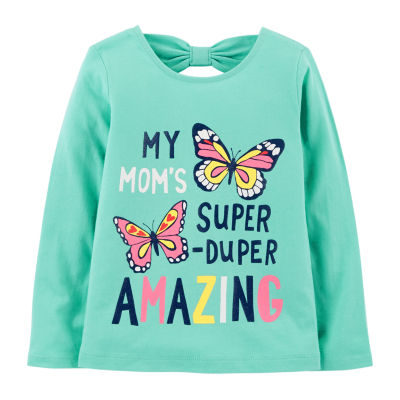Carter's Long Sleeve Round Neck T-Shirt-Toddlers