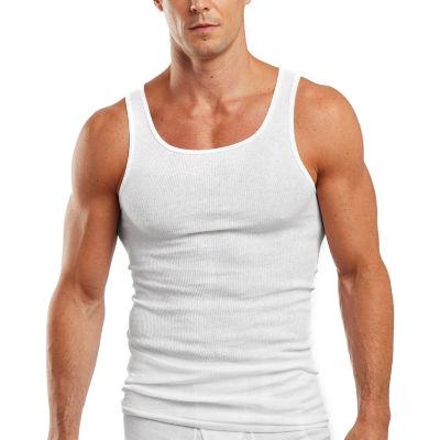 Hanes® Men's FreshIQ™ 4-pk. 100% Cotton Tagless Tank