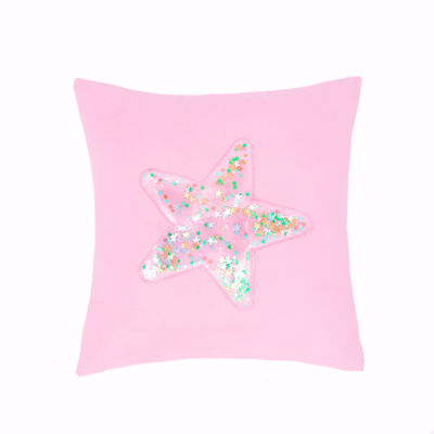 Frank And Lulu Confetti Star Square Throw Pillow