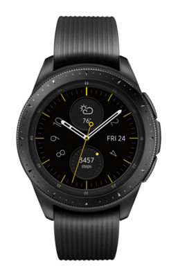 Samsung Galaxy Unisex Black Smart Watch-Sm-R810nzkaxar