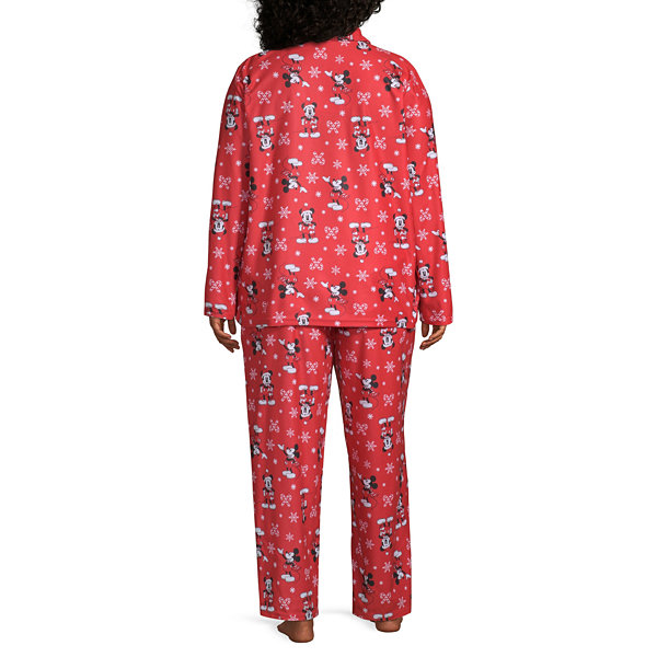 Disney Womens-Plus Pant Pajama Set 2-pc. Long Sleeve Family