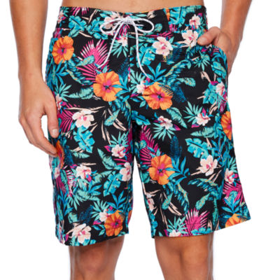 St. John's Bay Swordfish Print Swim Shorts
