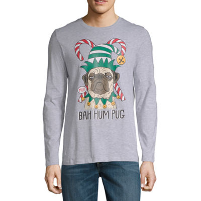 Bah Hum Pug Christmas Graphic Tee