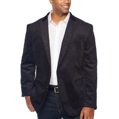 JF J.Ferrar Mens Classic Fit Velvet Sport Coat - Big and Tall