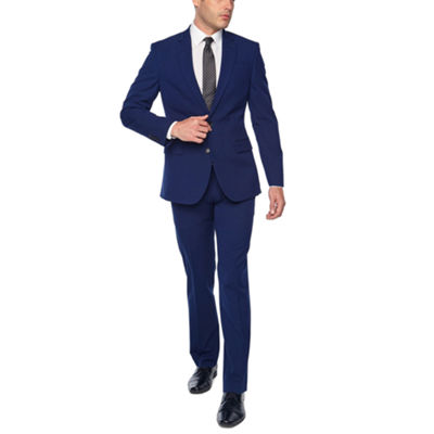 JF J. Ferrar Bright Blue Slim Fit Stretch Suit Separates