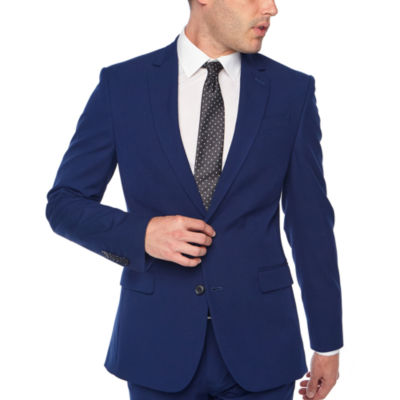JF J.Ferrar Briight Blue Slim Fit Stretch Suit Jacket