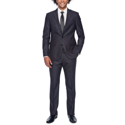 JF GRAY LUSTER CORD STRETCH SUIT SLIM FIT