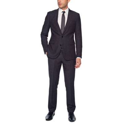 JF BLACK GEO BIRDSEYE SUIT SUPER SLIM FIT