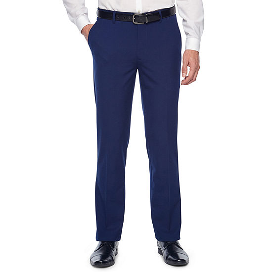 JF J.Ferrar Bright Blue Slim Fit Stretch Suit Pants