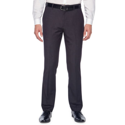 JF J.Ferrar 360 Stretch Black Geo Super Slim Fit Suit Pants