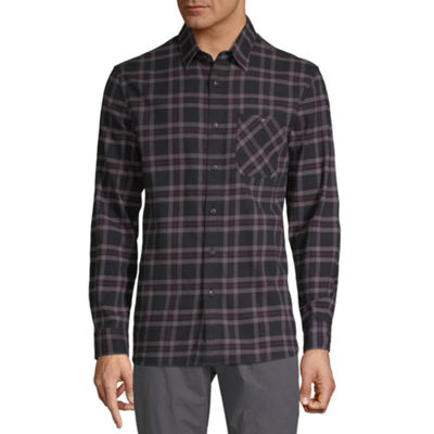 Boston Traders Mens Long Sleeve Flannel Shirt