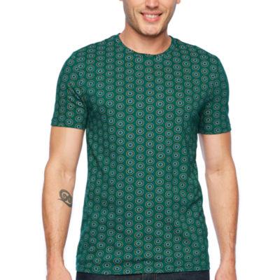 JF J.Ferrar Mens Crew Neck Short Sleeve T-Shirt-Slim