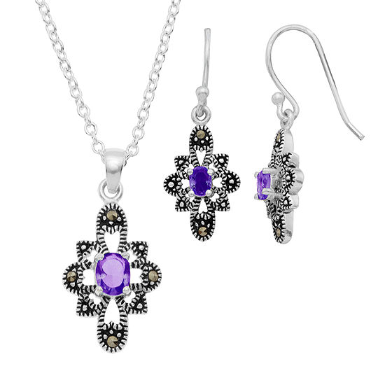 Sparkle Allure 2-pc. Multi Color Pure Silver Over Brass Jewelry Set