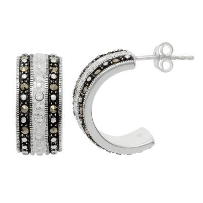 Sparkle Allure Genuine Multi Color Pure Silver Over Brass Drop Earrings