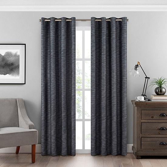 Eclipse Warren Energy Saving 100% Blackout Grommet-Top Single Curtain Panel