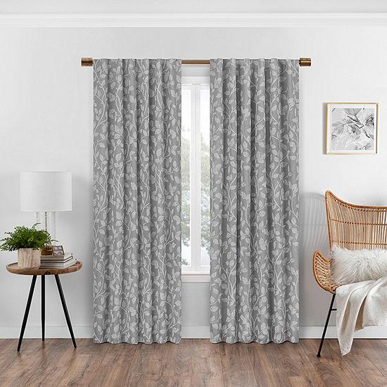 Eclipse Nora Botanical Blackout Rod-Pocket/Back-Tab Curtain Panel