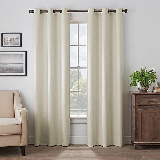 Eclipse Martina 100% Blackout Grommet-Top Single Curtain Panel