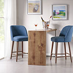 Madison Park Larkin Counter Height Upholstered Bar Stool