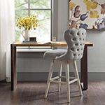 Madison Park Irvine Counter Height Tufted Swivel Bar Stool