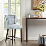 Madison Park Mervin Counter Height Upholstered Tufted Bar Stool