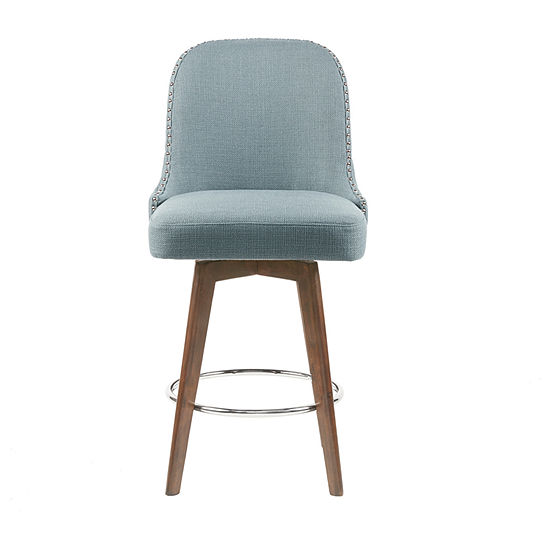 Madison Park Heyes Counter Height Upholstered Tufted Bar Stool