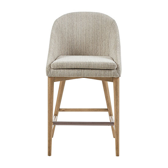 Madison Park Cheverly Counter Height Upholstered Bar Stool