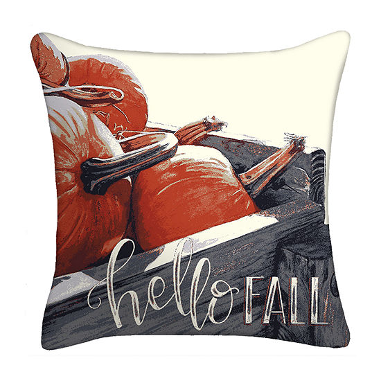Hello Fall Square Throw Pillow