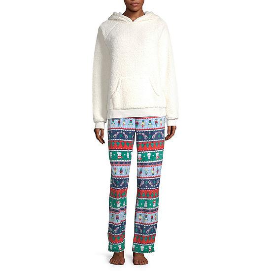 North Pole Trading Co. Fun Fairisle Family Long Sleeve Womens-Talls Pant Pajama Set 2-pc.