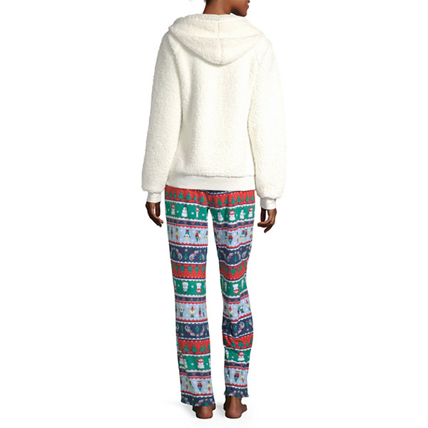 North Pole Trading Co. Fun Fairisle Family Long Sleeve Womens-Talls Pant Pajama Set 2-pc.