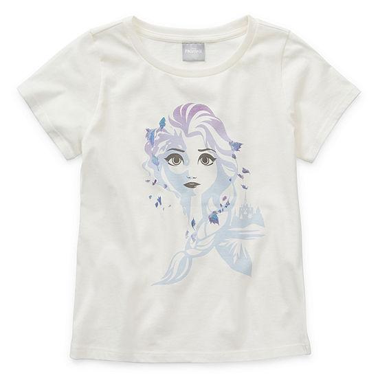 Disney's Frozen 2 Girls Crew Neck Short Sleeve Graphic T-Shirt - Preschool / Big Kid