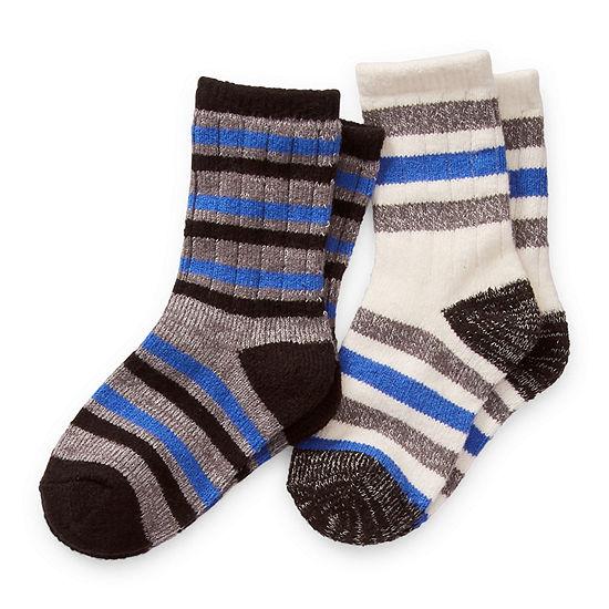 Cuddl Duds Cuddlduds 2 Pair Crew Socks Boys Toddler
