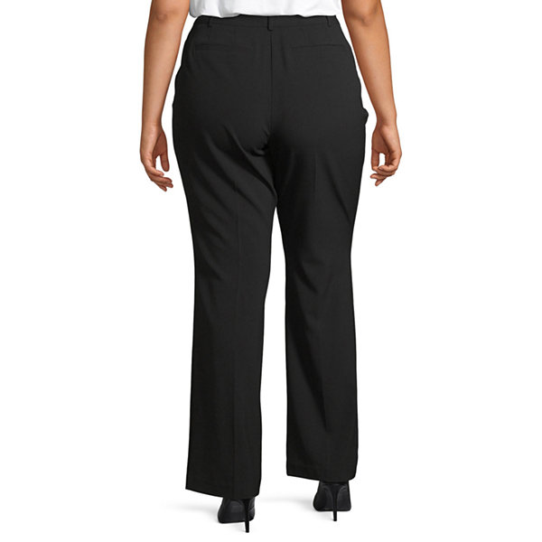 Worthington Womens Perfect Fit Trouser - Plus