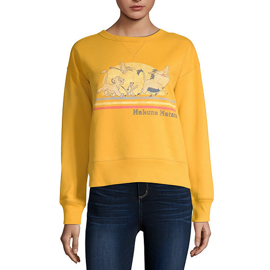 Juniors Womens Crew Neck Long Sleeve The Lion King Sweatshirt
