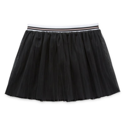 Arizona Girls Elastic Waist Short Pleated Skirt