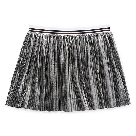 Arizona Girls Elastic Waist Short Pleated Skirt