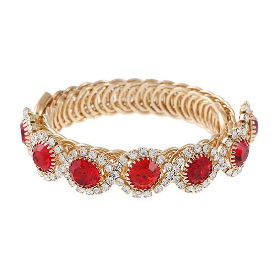 Monet Jewelry Red Wrap Bracelet