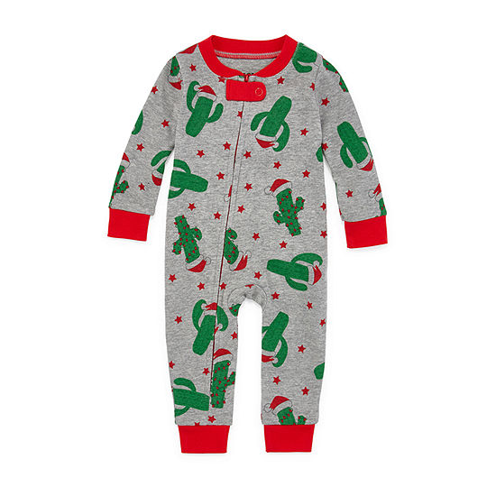 Secret Santa Feliz Navidad Family 1 Piece Pajama -Unisex Baby