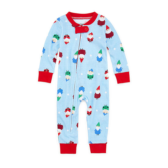 Secret Santa Gnomes Family 1 Piece Pajama - Unisex Baby