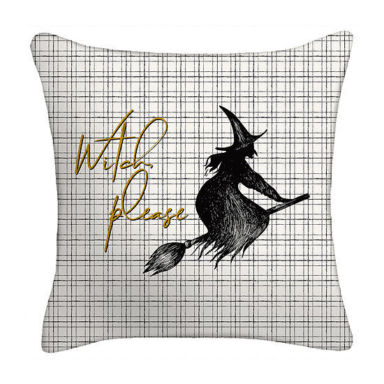 Witch Please Square Throw Pillow