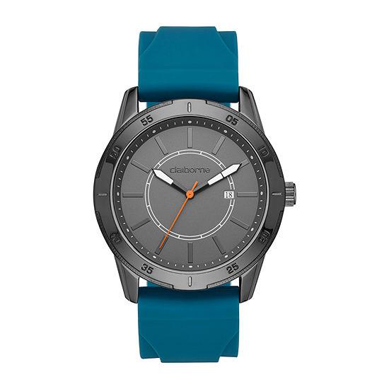 Claiborne Mens Blue Strap Watch-Clm1241t