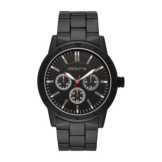 Claiborne Mens Black Bracelet Watch - Clm1243t