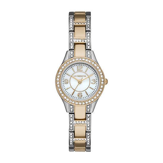 Liz Claiborne Mens Crystal Accent Two Tone Bracelet Watch-Lc1369t