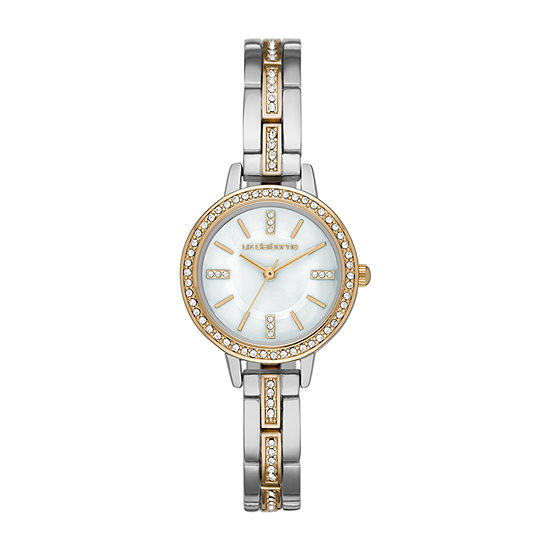 Liz Claiborne Womens Crystal Accent Two Tone Bracelet Watch - Lc1370t